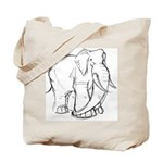 Elephant Sketch Tote Bag