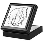 Elephant Sketch Keepsake Box