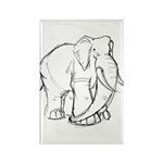 Elephant Sketch Rectangle Magnet (100 pack)