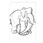 Elephant Sketch Postcards (Package of 8)