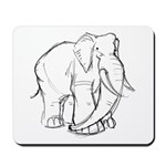 Elephant Sketch Mousepad
