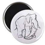 "Elephant Sketch 2.25"" Magnet (100 pack)"