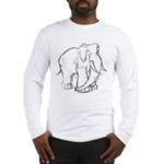 Elephant Sketch Long Sleeve T-Shirt