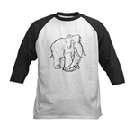 Elephant Sketch Kids Baseball Jersey