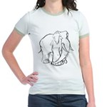 Elephant Sketch Jr. Ringer T-Shirt
