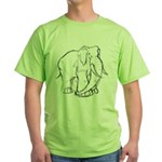 Elephant Sketch Green T-Shirt