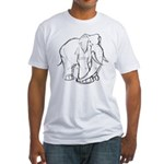 Elephant Sketch Fitted T-Shirt