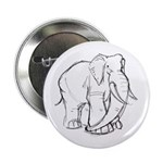 "Elephant Sketch 2.25"" Button (10 pack)"