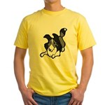 Collie Play Bows Yellow T-Shirt