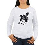 Collie Play Bows Women's Long Sleeve T-Shirt