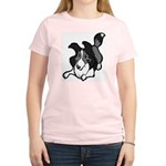 Collie Play Bows Women's Light T-Shirt