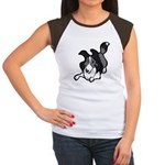 Collie Play Bows Women's Cap Sleeve T-Shirt