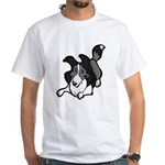 Collie Play Bows White T-Shirt