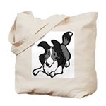 Collie Play Bows Tote Bag