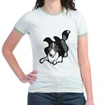 Collie Play Bows Jr. Ringer T-Shirt