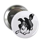 "Collie Play Bows 2.25"" Button (100 pack)"