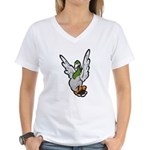 Scared Pigeon Women's V-Neck T-Shirt