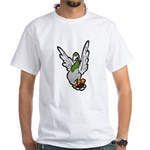 Scared Pigeon White T-Shirt