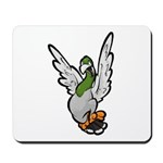 Scared Pigeon Mousepad