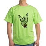 Scared Pigeon Green T-Shirt