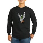 Scared Pigeon Long Sleeve Dark T-Shirt