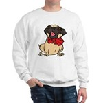 Pug with a bow Sweatshirt