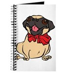 Pug with a bow Journal