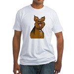 Smiling Yorkie Fitted T-Shirt