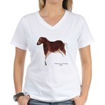 Horse Cave Painting Women's V-Neck T-Shirt