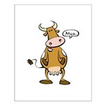 Moo Cow Small Poster