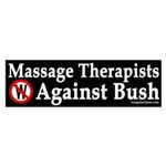 Massage Therapists Against Bush (sticker)