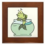 Fish Bowl Framed Tile