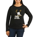 Puppy Design Women's Long Sleeve Dark T-Shirt