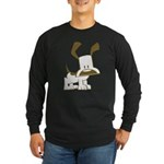 Puppy Design Long Sleeve Dark T-Shirt