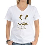 Puppy Design Women's V-Neck T-Shirt