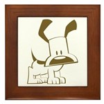 Puppy Design Framed Tile