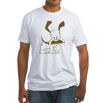 Puppy Design Fitted T-Shirt