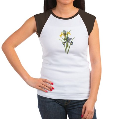 Vintage Iris 2 Christmas gift xmas gift birthday gift Women's Cap Sleeve T-Shirt by CafePress