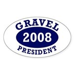Gravel: President 2008 Oval Car Sticker