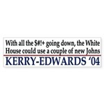 Two New Johns (bumper sticker)