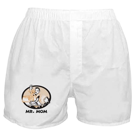 Mr. Mom gifts for dad Funny Boxer Shorts by CafePress