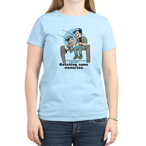 Gifts for dad fishing memories Women's Light T-Shi Cute Women's Light T-Shirt by CafePress
