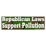 Republican Pollution Bumper Sticker