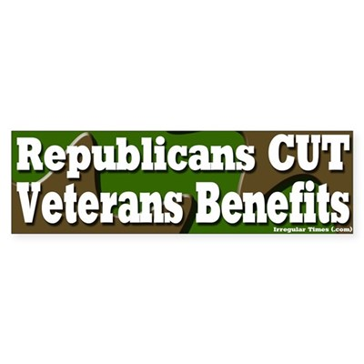 Republican Veterans Benefits Bumpersticker