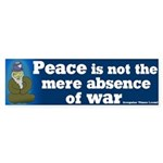 Absence of War Bumper Sticker
