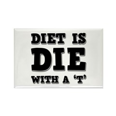 Diet Rectangle Magnet