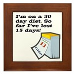 30 Day Diet Plaque