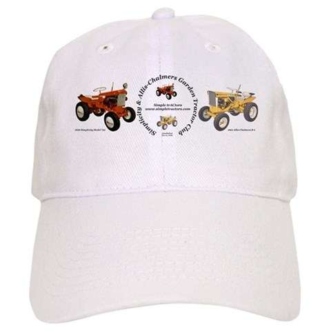 -- White or Khaki Black Cap by CafePress