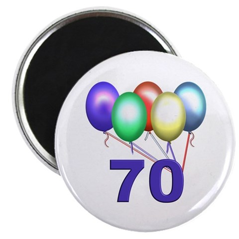 70  70th birthday 2.25 Magnet 100 pack by CafePress