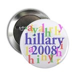 Hillary 2008 Colorful Campaign Button